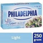 Philadelphia Cream Cheese Block 250g / Philadelphia Light Cream Cheese Block 250g $2.15 @ Coles