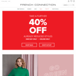 40% off Sale and Outlet Categories @ French Connection
