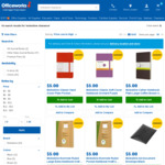 Moleskine, Rhodia, and Clairefontaine Products Clearance $3-$20 @ Officeworks
