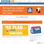 Bonus Motorola Moto G7 & Motorola Moto E5 When Porting to $65/M 80GB Telstra Data Mobile Plan @ The Good Guys
