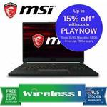 "MSI GS65 Stealth Gaming Laptop 15.6"" 144Hz i7-9750H, 16GB/512GB, GTX 1660Ti 6G $2209.15 + Delivery ($0 w/Plus) @ Wireless 1 eBay"