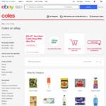 [eBay Plus] $15 off (Min Spend $100) @ Coles eBay