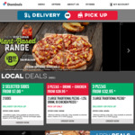 Domino's Any Large Premium, Traditional or Value Range Pizza Delivered for $15 (No Minimum Spend)