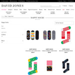 Happy Socks (Various Designs) from $4 Click & Collect Only @ David Jones