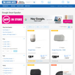 Google Home Mini $35.10, Google Nest Hub $116.10, Google Home Max $269.10 @ The Good Guys