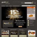 15% off $150+ Spend on Digital Gift Cards @ Good Food Gift Card