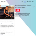 30% off Full-Priced Products ($150 Minimum Spend) @ New Balance via WhatsMine App
