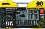 "Stanley 69 Piece Socket Set: 1/4"" & 3/8"" Drive, Metric & Imperial, $89.99 (Was $157.99) C&C /+ $9.50 Delivery @ Supercheap Auto"