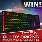 Win a HyperX Alloy Origins RGB Mechanical Gaming Keyboard Worth $175 from PC Case Gear
