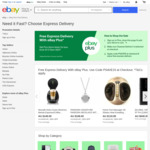 [eBay Plus] $15 off Express Shipping on Eligible Plus Items @ eBay