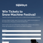 Win a Trip to the Snow Machine Festival in Japan for 2 Worth $4,725 from Superdry