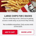 $2 Large Chips @ Selected KFC Stores