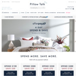 Spend and Save + Free Shipping @ Pillow Talk