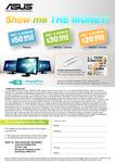 Asus $20 - $50 VISA Cash-Back on Selected Higher-End LCD/LED Monitors