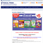 120 Excel Primary Books $5.00 Each + Flat Delivery $4.95 @ Pascal Press