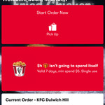 $4 off $5 Minimum Spend on KFC App