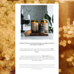Win a Complete R&R Kit Filled with Candles, Wine and Candle-Care from Mojo Candle Co