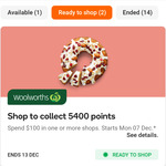 Spend $100 & Get 5400 Everyday Rewards Points at Woolworths