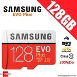 Samsung EVO Plus MicroSD 128GB $19.95 + Delivery @ Shopping Square