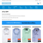 3 Mens Business Shirts for $99 + $9.95 Delivery @ Mens Business Shirts