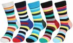 Funky Socks (5 Pairs) $15.29 (Was $17.99) + Delivery ($0 with Prime/ $39 Spend) @ EgogoAu via Amazon AU