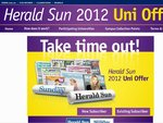 Sign up to the 2012 Herald Sun University Offer: $10 for 52 weeks (save 98%)!
