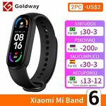 Xiaomi Mi Band 6 Fitness Tracker US$42.29 (~A$55.75) Delivered @ Hong Kong Goldway AliExpress