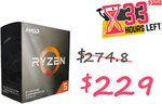 AMD Ryzen 5 3500X 6-Core AM4 3.60 GHz Unlocked CPU Processor + Wraith Stealth $229 Delivered @Harris Technology eBay