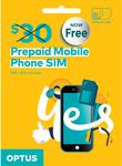 Free Optus $30 Pre-Paid Mobile SIM Card with 40GB Data @ Freesimcards.com.au