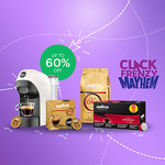 Up to 60% off Selected Lavazza Coffee and Machines - Free Tiny White Machine with 96 Capsules for $68 & More @ Lavazza