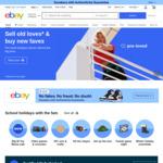 [eBay Plus] $5 off Eligible Items (Min Spend $5.01) @ eBay