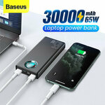 Baseus Type-C USB PD, SCP & QC3.0 65W 30000mAh Power Bank US$45.99 (~A$62.63) AU Stock Delivered @ Banggood