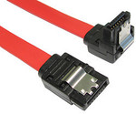 Brentsbits - 45cm Right Angle SATA Cables with Clips - $1 Each with Free Shipping