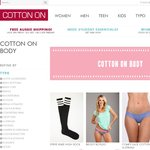 Cotton On - Big Sale on Lingerie and Free Shipping on All Orders - No Minimum!