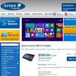 Acer Iconia W510 Windows 8 Tablet Only $599 at Arrow Computers. Online or in Store Available Now