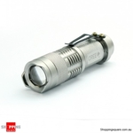7W CREE Q5 Zoomable Waterproof Mini LED Flashlight Torch $7.90 Delivered @ ShoppingSquare