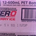 Powerade ZERO Berry Ice - Carton of 12x 600ml $5 @ NQR Boronia VIC - BB 22/9/13