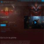 Diablo III $27.50 @ Battle.net Shop