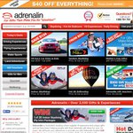 $40 off Any Spend above $169 at Adrenalin (E.g. Cheapest Skydiving Experience)