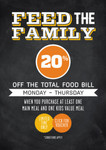 VOUCHER - 20% off The Total Food Bill from Mon – Thur in Oct. 204 Venues in QLD VIC NSW SA TAS