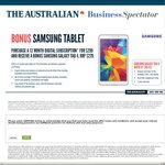 """Free Samsung Galaxy Tab 4 8"""" with 12 Month Digital Subscription to The Australian for $299"""
