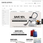 4 Day Savings on Home at David Jones (Dyson, Samsonite, Sealy, and more) - Online and in Store