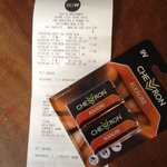 Chevron 9V Alkaline Batteries - 2pk $2.70 (With Family and Friends 10% Discount) @ Big W