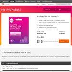 Telstra - $30 SIM Starter Kit for $15 Via PricePal + $10 Cashback for 48 Hrs