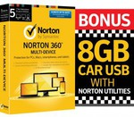 Norton 360 5 Device + 8GB USB Drive $48.30 ($8.30 after $40 Cashback) @ Dick Smith