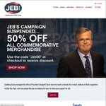 Up to 50% off The Jeb Bush Store