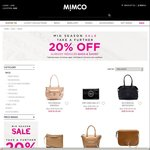 Mimco Mid Season Sale - Extra 20% off Bags & Shoes
