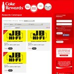 JB Hi-Fi Vouchers - $200 (4000 Tokens) @ Coke Rewards