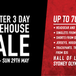 CCC Canterbury of NZ Monster 3 Day Warehouse Sale (27-29/05) - Sydney Olympic Park, NSW