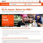 Fly to Japan via Cairns. Return for FREE, Fares Starting from $269 @ Jetstar Airways